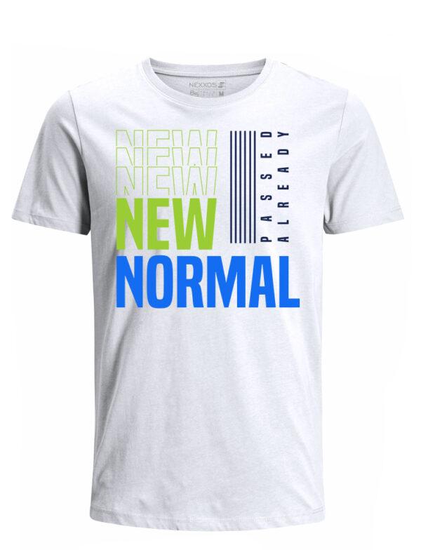 Nexxos Studio - Camiseta para Hombre Tejido de Punto 100% Algodón Tubular Manga Corta Nexxos 39619