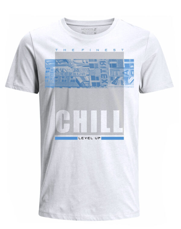 Nexxos Studio - Camiseta para Hombre Tejido de Punto 100% Algodón Tubular Manga Corta Nexxos 39620