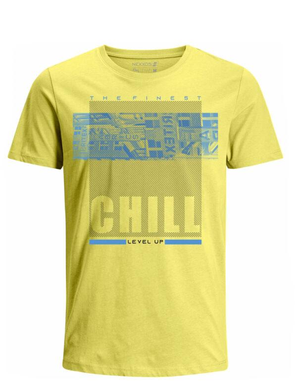 Nexxos Studio - Camiseta para Hombre Tejido de Punto 100% Algodón Tubular Manga Corta Nexxos 39620-080
