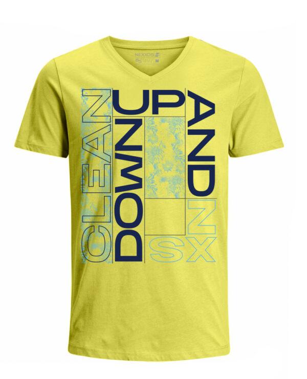 Nexxos Studio - Camiseta para Hombre Tejido de Punto 100% Algodón Tubular Manga Corta Nexxos 39633-080
