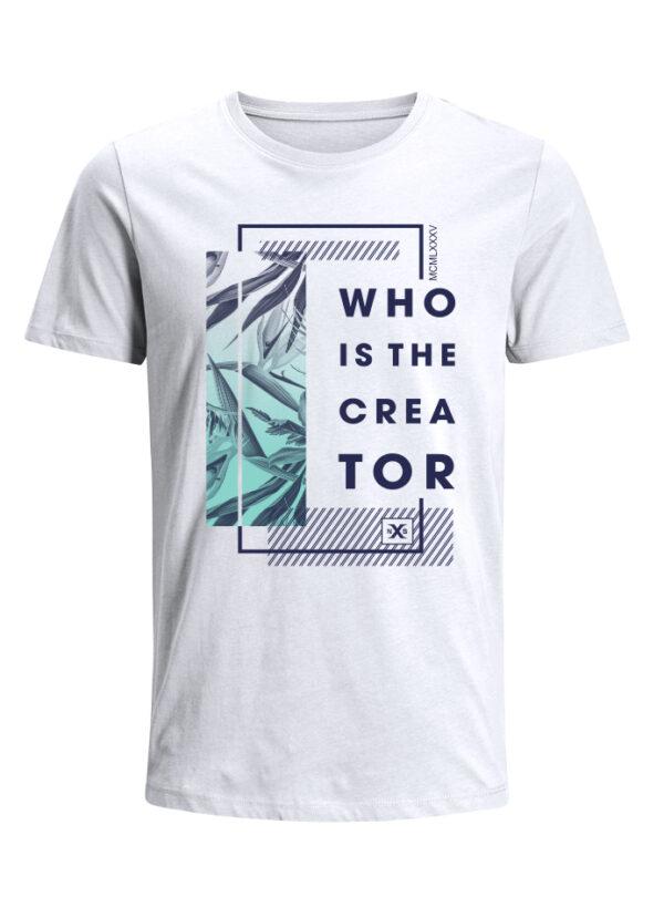 Nexxos Studio - Camiseta para Hombre Tejido de Punto 100% Algodón Tubular Manga Corta Nexxos 39634-000