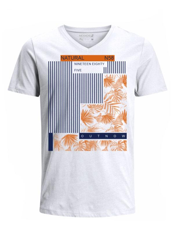 Nexxos Studio - Camiseta para Hombre Tejido de Punto 100% Algodón Tubular Manga Corta Nexxos 39668-000