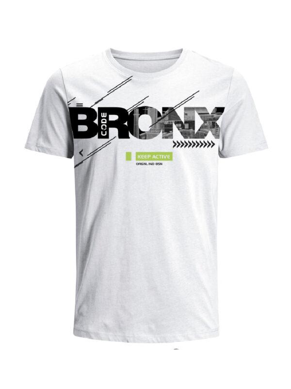Nexxos Studio - Camiseta Codigo Bronxs para hombre en Tejido De Punto 96% Algodón 4% Elastano Manga Corta marca Nexxos 100108