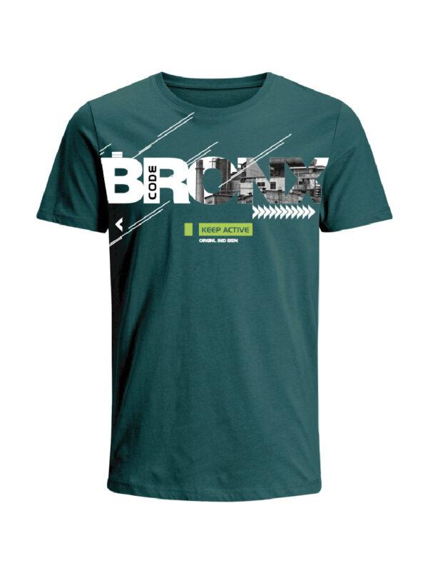 Nexxos Studio - Camiseta Codigo Bronxs para hombre en Tejido De Punto 96% Algodón 4% Elastano Manga Corta marca Nexxos 100108-353