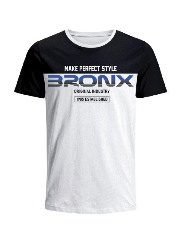 Nexxos Studio - Camiseta Codigo Bronxs para hombre en Tejido De Punto 100% Algodón Peinado Abierto Manga Corta marca Nexxos 100110