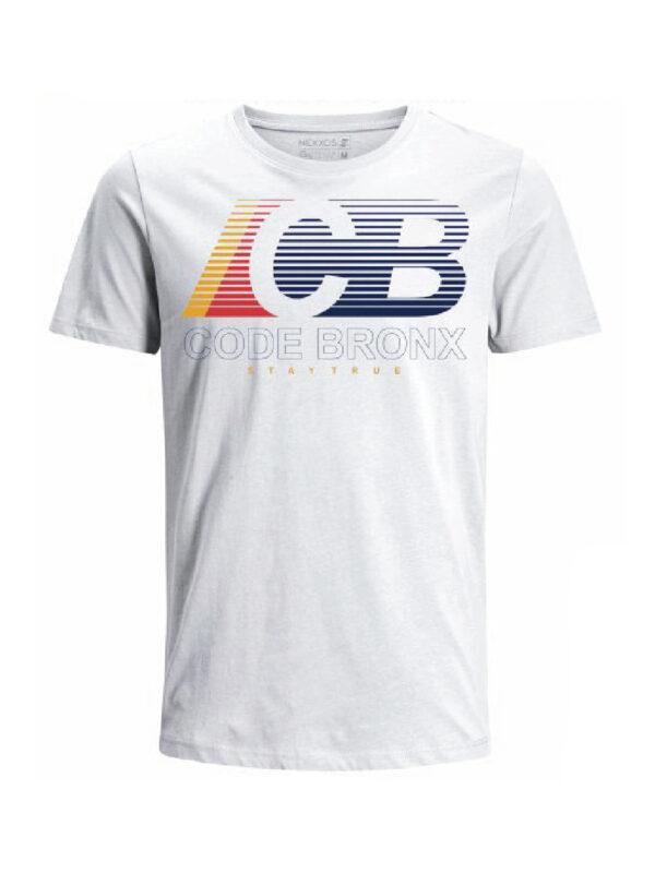Nexxos Studio - Camiseta Codigo Bronxs para hombre en Tejido De Punto 100% Algodón Peinado Abierto Manga Corta marca Nexxos 100113-000