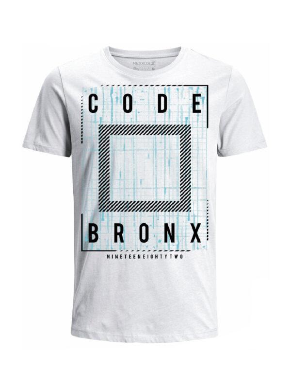 Nexxos Studio - Camiseta Codigo Bronxs para hombre en Tejido De Punto 100% Algodón Tubular Manga Corta marca Nexxos 100115
