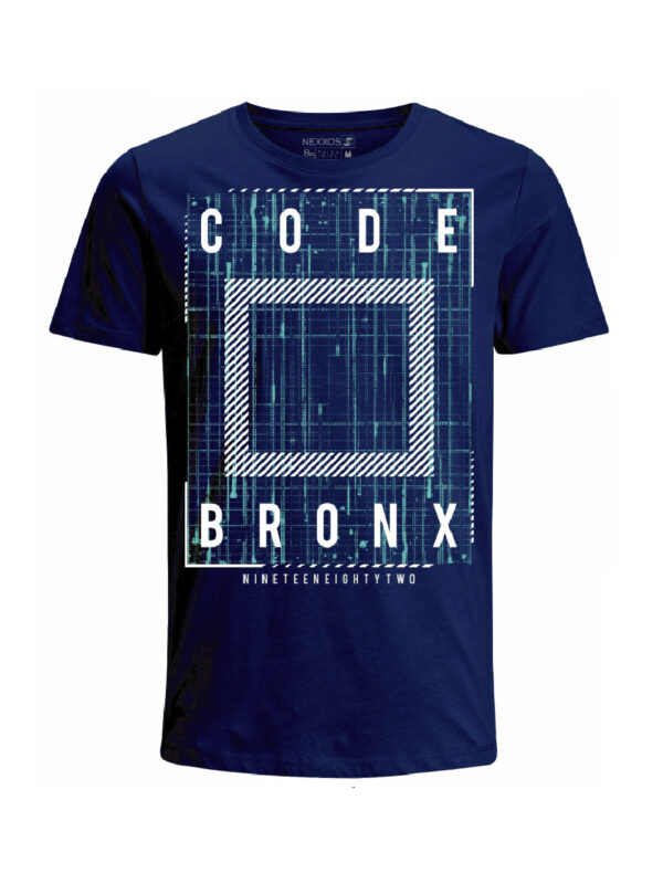 Nexxos Studio - Camiseta Codigo Bronxs para hombre en Tejido De Punto 100% Algodón Tubular Manga Corta marca Nexxos 100115-005