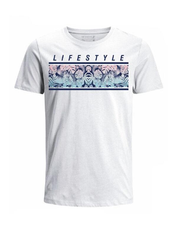 Nexxos Studio - Camiseta para hombre en Tejido De Punto 100% Algodón Peinado Abierto Manga Corta marca Nexxos 39772-000
