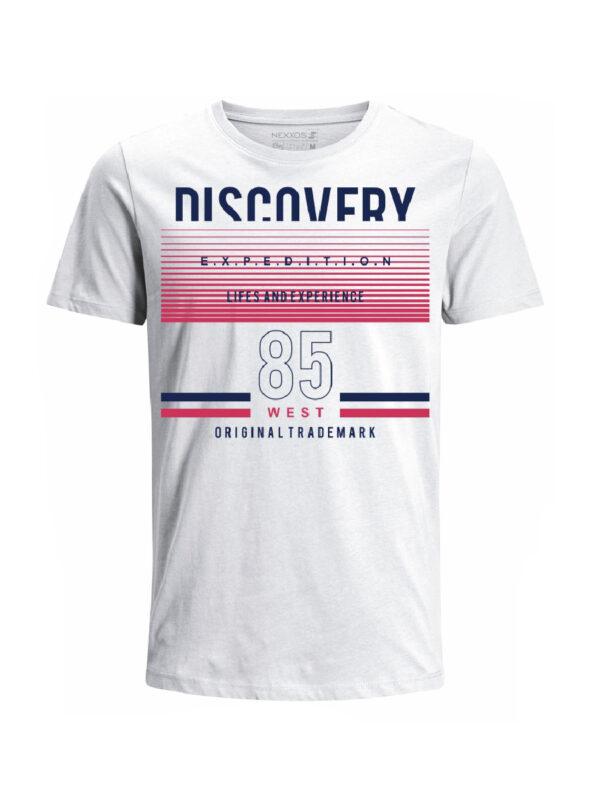 Nexxos Studio - Camiseta para hombre en Tejido De Punto 100% Algodón Tubular Maga Corta marca Nexxos 39821-000