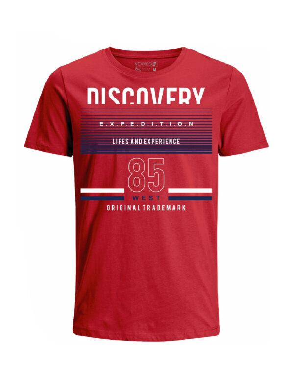 Nexxos Studio - Camiseta para hombre en Tejido De Punto 100% Algodón Tubular Maga Corta marca Nexxos 39821-001