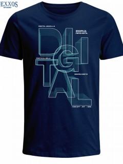 Camiseta para Hombre en Tejido de Punto 100% Algodón Tubular  Nexxos 39523