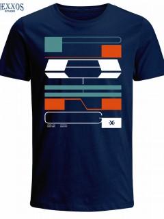 Camiseta para Hombre en Tejido de Punto 100% Algodón Tubular  Nexxos 39516