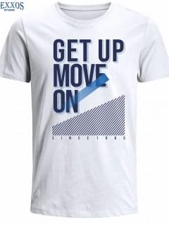 Camiseta para Hombre en Tejido de Punto 100% Algodón Tubular  Nexxos 39515