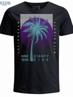 Camiseta para Hombre en Tejido de Punto 100% Algodón Tubular  Nexxos 39461