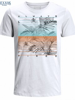 Camiseta para Hombre de Algodón Manga Corta  Nexxos 39452