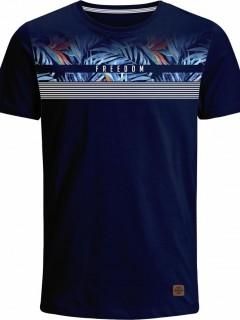 Camiseta para Hombre en Tejido de Punto 100% Algodón Peinado Abierto Manga Corta  Nexxos 39387