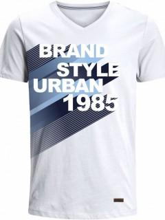 Camiseta para Hombre en Tejido de Punto 100% Algodón Peinado Abierto Manga Corta  Nexxos 39410