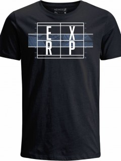 Camiseta para Hombre en Tejido de Punto 100% Algodón Peinado Abierto Manga Corta  Nexxos 39439