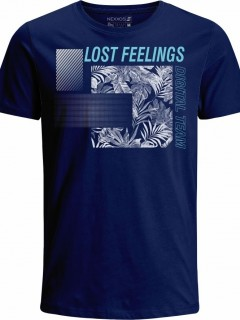 Camiseta para Hombre en Tejido de Punto 100% Algodón Peinado Abierto Manga Corta  Nexxos 39442