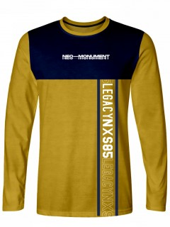 Camiseta para Hombre Tejido de Punto 96% Algodón 4% Elastano Manga Larga Nexxos 39396-067