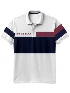 Camiseta para Hombre Tipo Polo en Tejido Fraccionado 96% Algodón 4% Elastano Manga Corta Nexxos 39399-000