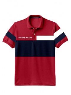 Camiseta para Hombre Tipo Polo en Tejido Fraccionado 96% Algodón 4% Elastano Manga Corta Nexxos 39399-001