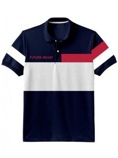 Camiseta para Hombre Tipo Polo en Tejido Fraccionado 96% Algodón 4% Elastano Manga Corta Nexxos 39399-005