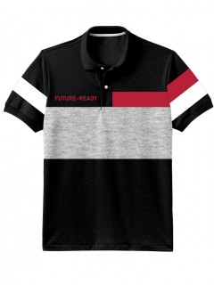 Camiseta para Hombre Tipo Polo en Tejido Fraccionado 96% Algodón 4% Elastano Manga Corta Nexxos 39399-008