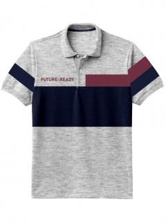 Camiseta para Hombre Tipo Polo en Tejido Fraccionado 96% Algodón 4% Elastano Manga Corta Nexxos 39399-018