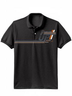 Camiseta para Hombre Tipo Polo en Tejido Fraccionado 96% Algodón 4% Elastano Manga Corta Nexxos 39612-008