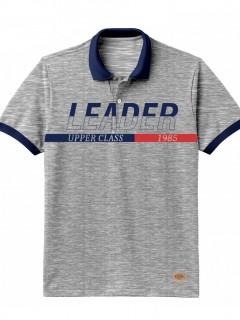 Camiseta para Hombre Tipo Polo en Tejido Fraccionado 96% Algodón 4% Elastano  Regular Fit Manga Corta Nexxos 39614-018