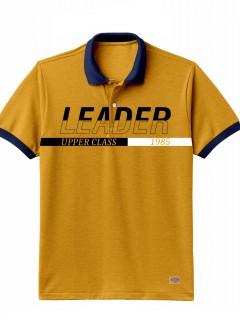 Camiseta para Hombre Tipo Polo en Tejido Fraccionado 96% Algodón 4% Elastano Regular Fit Manga Corta Nexxos 39614-067