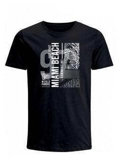 Camiseta para Hombre Tejido de Punto 100% Algodón Peinado Abierto Manga Corta Nexxos 39653-008