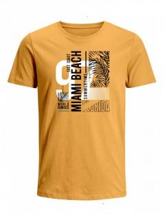 Camiseta para Hombre Tejido de Punto 100% Algodón Peinado Abierto Manga Corta Nexxos 39653-067