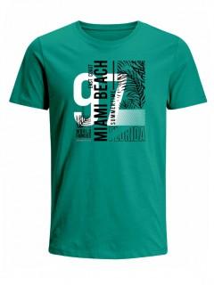 Camiseta para Hombre Tejido de Punto 100% Algodón Peinado Abierto Manga Corta Nexxos 39653-367
