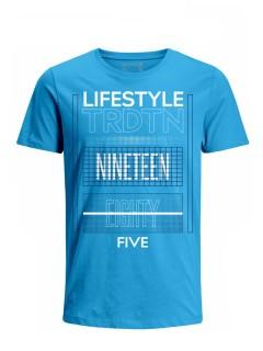 Camiseta para Hombre Tejido de Punto 100% Algodón Tubular Manga Corta Nexxos 39616-395
