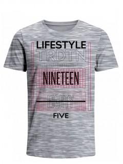 Camiseta para Hombre Tejido de Punto 100% Algodón Tubular Manga Corta Nexxos 39616-422