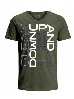 Camiseta para Hombre Tejido de Punto 100% Algodón Tubular Manga Corta Nexxos 39633-013