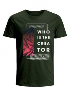 Camiseta para Hombre Tejido de Punto 100% Algodón Tubular Manga Corta Nexxos 39634-013