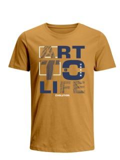 Camiseta para Hombre Tejido de Punto 100% Algodón Tubular Manga Corta Nexxos 39635-067