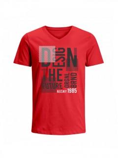 Camiseta para Hombre Tejido de Punto 100% Algodón Tubular Manga Corta Nexxos 39659-001