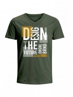 Camiseta para Hombre Tejido de Punto 100% Algodón Tubular Manga Corta Nexxos 39659-013
