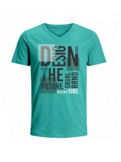 Camiseta para Hombre Tejido de Punto 100% Algodón Tubular Manga Corta Nexxos 39659-391