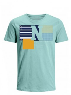 Camiseta para Hombre Tejido de Punto 96% Algodón 4% Elastano Manga Corta Nexxos 39622-410