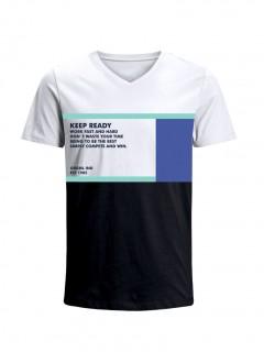 Camiseta para Hombre Tejido de Punto 96% Algodón 4% Elastano Manga Corta Nexxos 39649-000