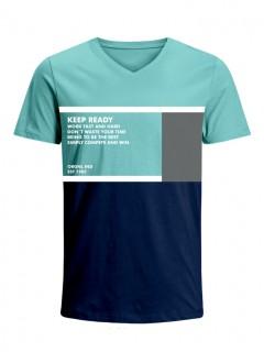 Camiseta para Hombre Tejido de Punto 96% Algodón 4% Elastano Manga Corta Nexxos 39649-410