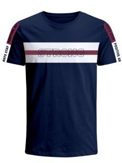 Camiseta para Hombre en Tejido de Punto 96% Algodón 4% Elastano Manga Corta  Nexxos 39679