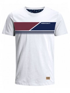 Camiseta para Hombre Tejido de Punto 96% Algodón 4% Elastano Manga Corta Nexxos 39761-000