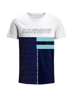 Camiseta para hombre en Tejido De Punto 100% Algodón Peinado Abierto Manga Corta marca Nexxos 39677-000